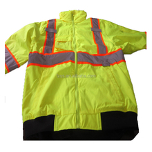 Winter Hi Vis Reflecting Tapes Workwear with Hooded