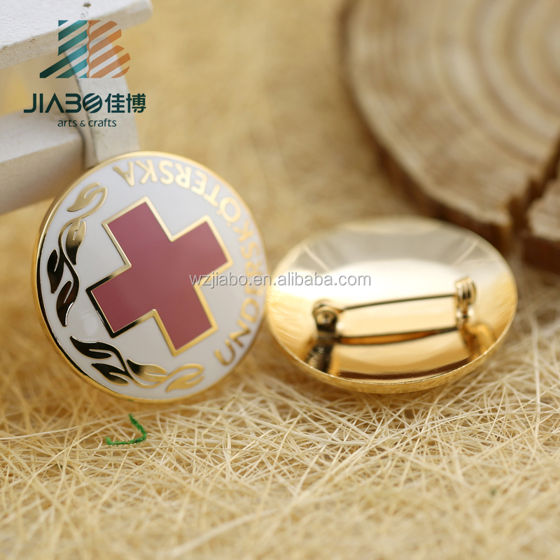 New product 1'' soft enamel custom collar badge lapel pin