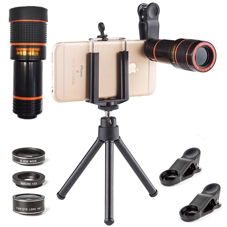 Handy Objektiv 12X Tele Lens Kit mit Stativ für iphone kamera objektiv - ANKUX Tech Co., Ltd
