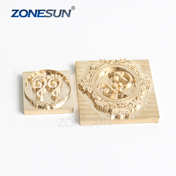 ZONESUN Customize Die Stamp Mould Design Wood Soap Mold Metal Stamp Embossing Cooper Mold