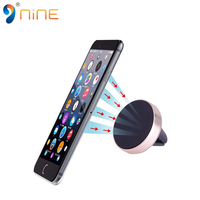 Free sample metal 360 degree rotation air vent magnetic car mobile phone holder