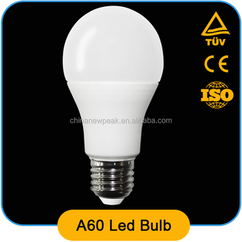 high quality standard A60 led bulb 5w 7w 9w ,Al+pbt ,90lm/w,CRI>80,constant current driver with CE ROHS