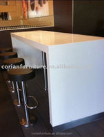 Corianfurniture solid surface restaurant bar table, high table set, restaurant benches