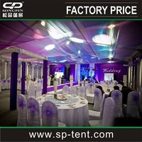 Luxury Wedding ceremony tents for events with lining and lightings for sale