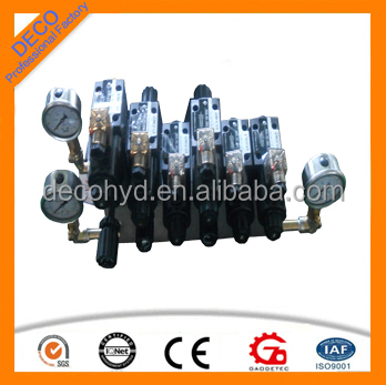 manifold valve block for block machine