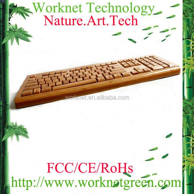 wholesale cheap taiwan language bamboo keyboard wired 108 keys