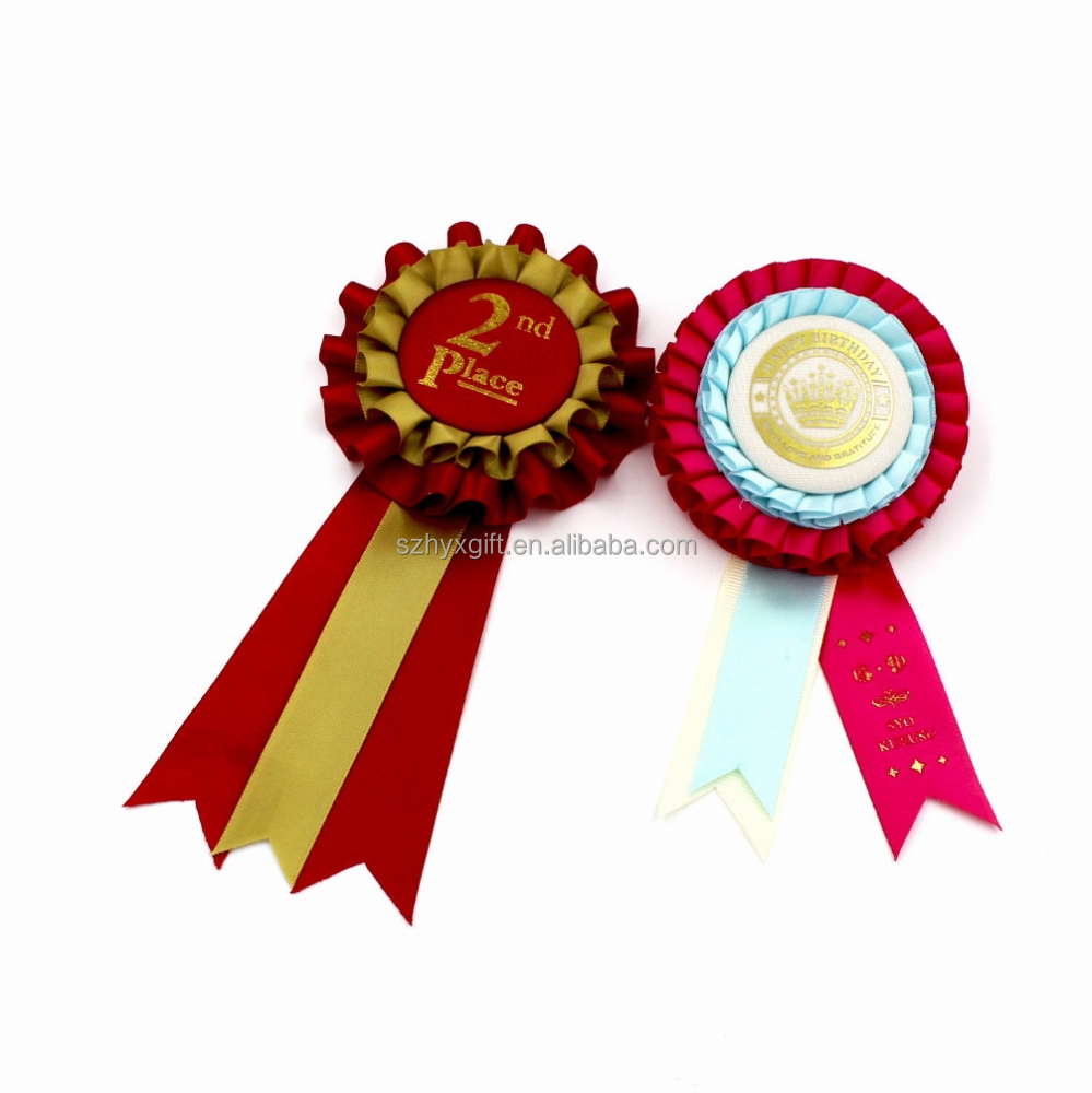 Multilayer fabric craft award ribbon rosettes/ party supplies