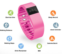 Cheap Bluetooth watch Led smart bracelet TW64 smart wristband