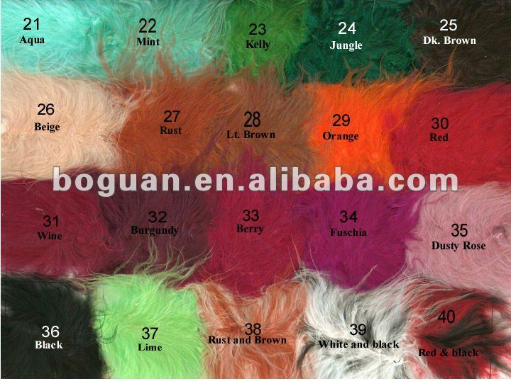feather color chart for wholesale cock tail feather
