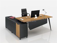 Guoxun Executive Table Commercial Furniture with material leg and long side cabinet Luxury Furniture Desk