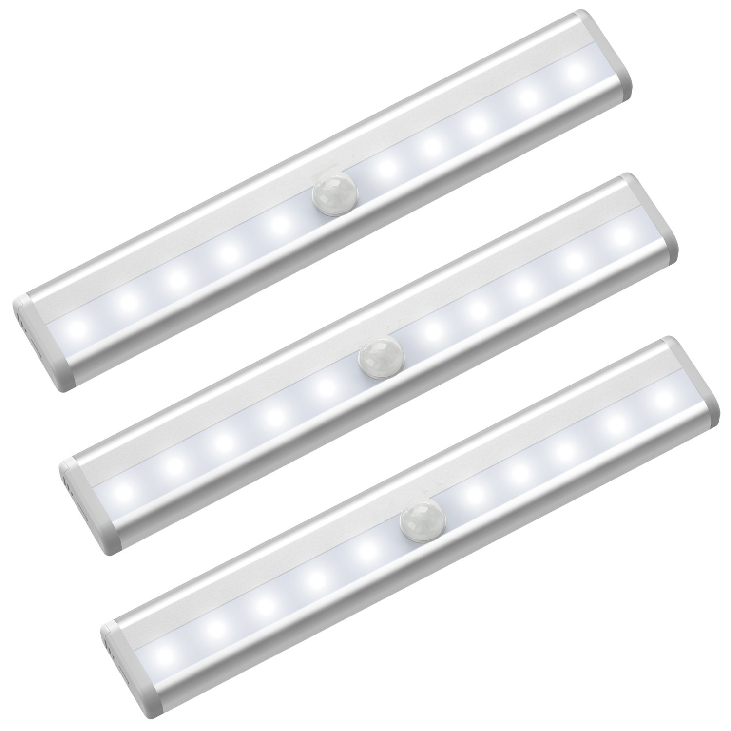 Motion Sensor Closet Lights, Battery Operated 10 LED Closet Light Wireless Under Cabinet Light with Magnet Security Closet Light