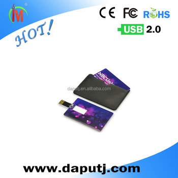 Wallet Card Mini Flip USB Business Card With Imprint Logo