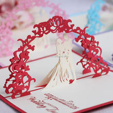 Creative 3D Invitation Card Luxury Handmade Sweet Laser Cut Wedding Greeting Card