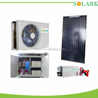Wall mounted split unit 100% solar air conditioner,saving energy for home,3PH/24000BTU/2TON