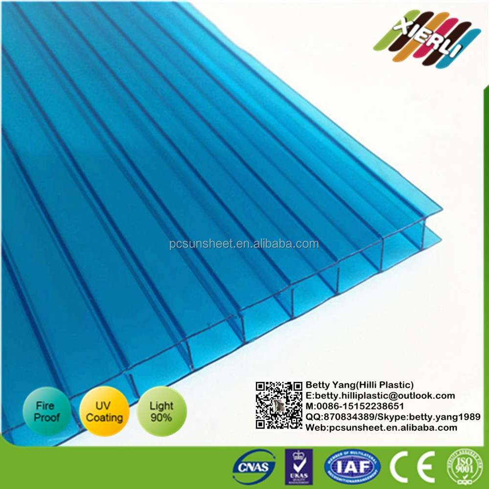 Used awnings for sale Hollow polycarbonate sheet, Bayer 3mm twin wall polycarbonate sheet for pool cover