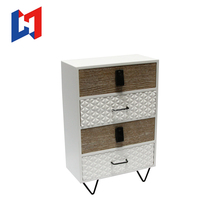 Cheap cosmetic wooden mini storage cabinet with drawers