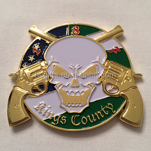 Top Quality Custom Design Awards & Corporate Gifts Soft Enamel Filled Solid Brass Anti Crime Challenge Coin