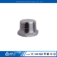 Duplex Stainless Steel forged male threaded square hex and round head plug pipe fittings