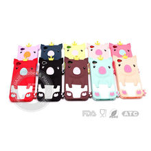 3D Lovely Crowned Pig Soft Cheap Silicone Phone Case Cover for Iphone 4