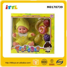 9 inch musical banana fruit baby doll