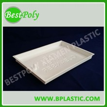 Thermoformed plastic blister packing tray white insert tray