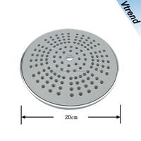VT114 Chrome Plated Bathroom Water Rain Bath Shower Head Round Fixed Overhead China