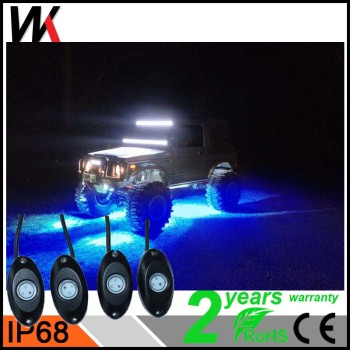 WEIKEN Blue 8 Pod 2inch 9w LED Rock Light Offroad Car Spare Parts Auto Led Light accessories