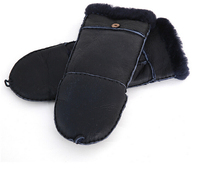 real leather fur skin gloves