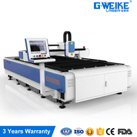 High power fiber optic laser cutting machine for sale