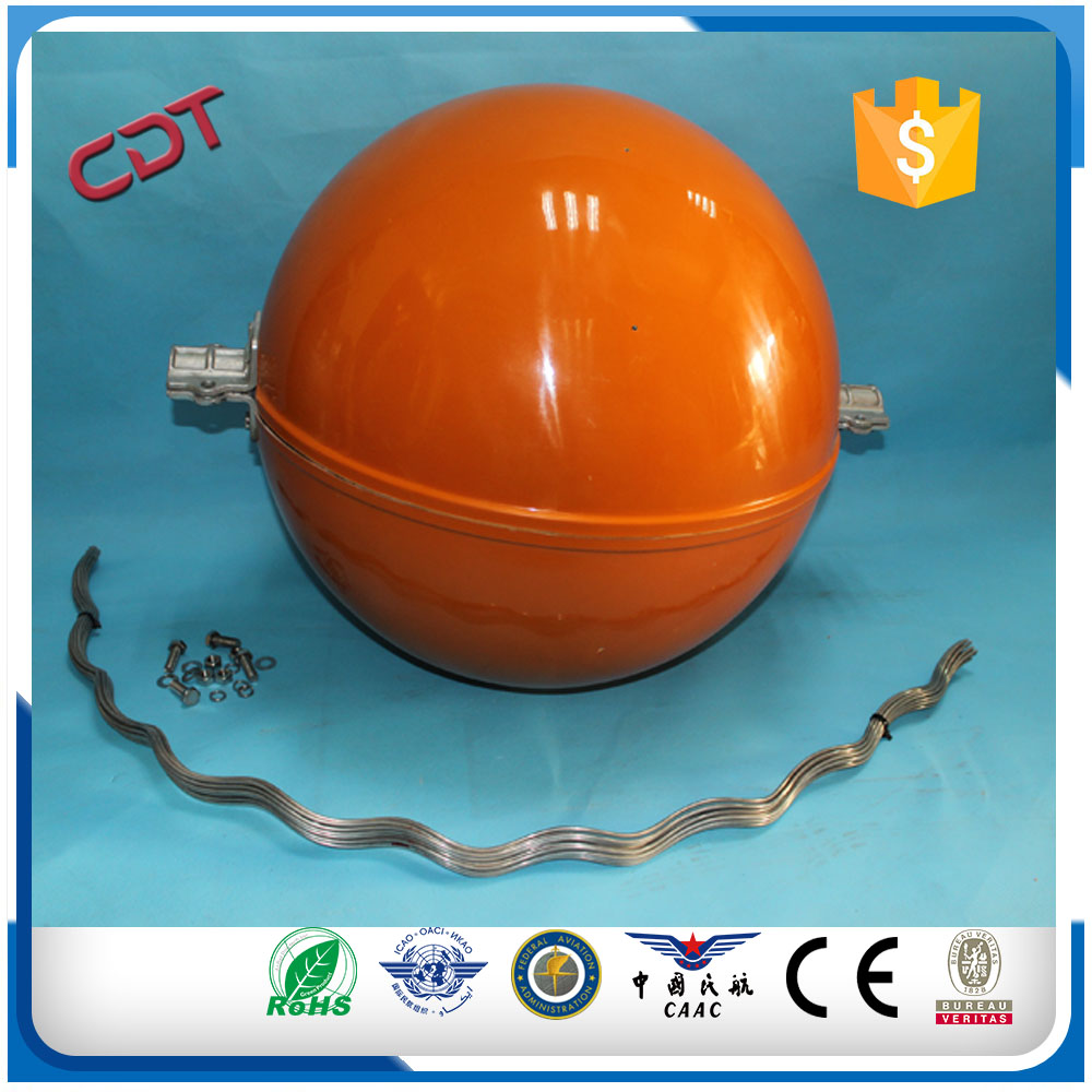 Transmission line CONDUCTOR SIZE 105mm sq Aerial marker balls/Power Line Markers for overhead wire