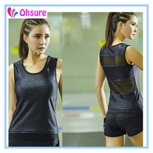 Hot sale OEM service gym singlet running tank top for women