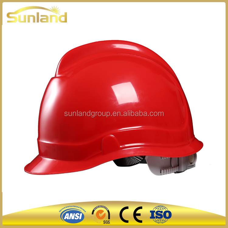 red T type ABS electrical safety helmet for industry workers