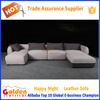 Golden New design quality modern cornere leather sofa for sale A852#