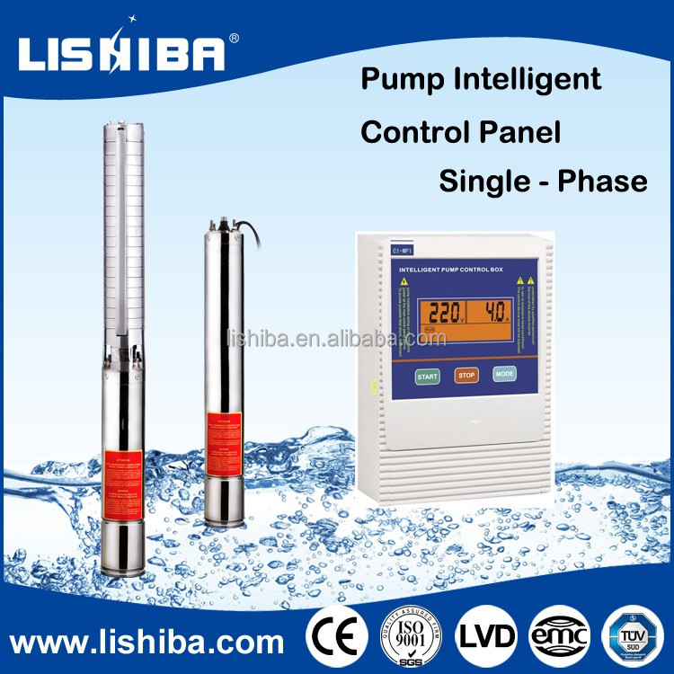 1hp 2hp solar powered submersible water pump