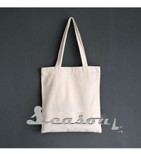 High quality natural canvas tote bag for shopping