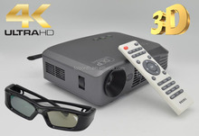RK3288 1500lumens Home Theater Convert 2D Into 3D Pico Projector With Glasses