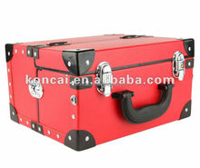 Silvery metal Heavy Duty aluminum tool boxes with wheels,train case boxes