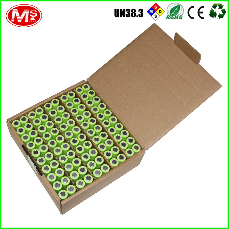 High quality Rechargeable batteries 18650 3.7V 2500mAh ion battery with good reputation Lishen brand