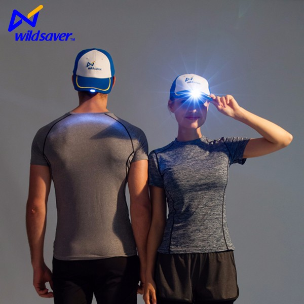 Custom lighting LED baseball hat running cap