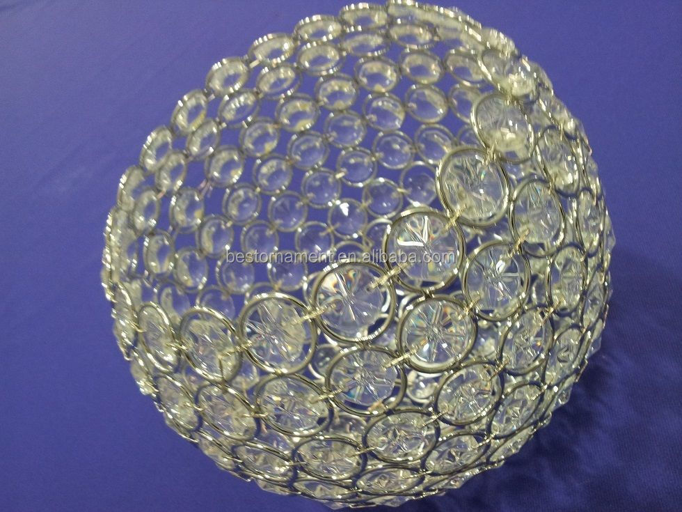 Chandelier Crystal Round Ball Cake Stand Buy Crystal