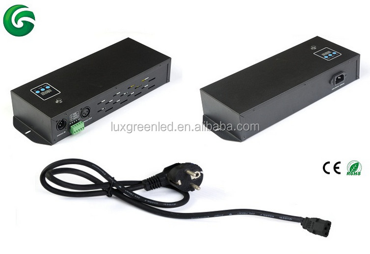 300W driver LED RGB RGBW DMX Decoder with digital display ,easy operation,ce rohs certified
