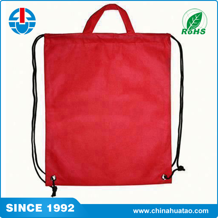 Fugang Cheap Wholesale Red Colour Backpack Or Handle Drawstring String Bags