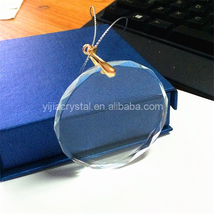 New Product 2019 Blank Crystal Pendants Crystal Christmas Ornaments for Christmas Tree Decorations