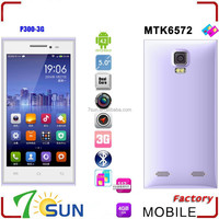 china online shopping 5.0 inch P300 Smartphone MTK6572 Dual Core Android 4.2 Capacitive WIFI 3G android 4.4 mobile phone