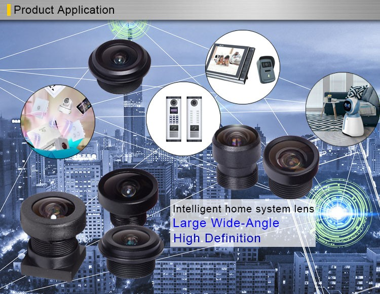 "1/4"" 2mp fixed focal 123 degree m7 mount fisheye low distortion cctv camera lens"