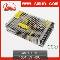 Nonwaterproof IP20 LED Driver For LED Strip 5V 20A 100W Small Size