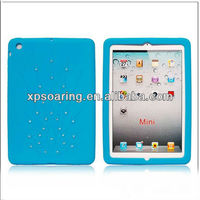 for mini ipad Peacock silicone cas back cover