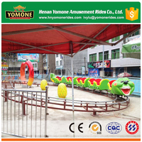 kids play amusement worm roller coaster children's playground toys for sale