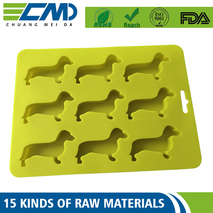 Custom Logo Printing Silicone Fancy Rubber Ice Cube Trays