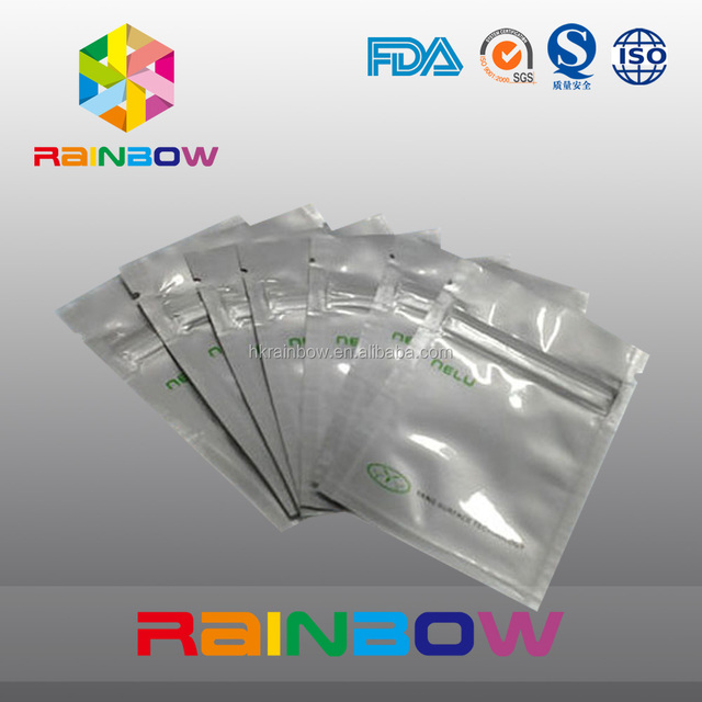 Food Grade Face Mask Bags Three Side Seal Pouch Aluminum Foil Customized Pouch Packaging